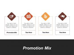 Promotion Mix Ppt Powerpoint Presentation File Design Inspiration Cpb