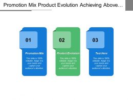 Promotion Mix Product Evolution Achieving Above Average Performance Excellence