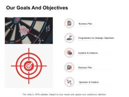 Promotion Our Goals And Objectives Ppt Powerpoint Presentation Information