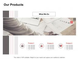 Promotion Our Products Ppt Powerpoint Presentation Portfolio Template