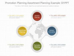 Promotion Planning Assortment Planning Example Of Ppt