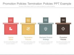 Promotion Policies Termination Policies Ppt Example