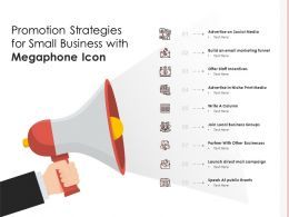 Promotion Strategies For Small Business With Megaphone Icon