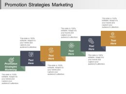 Promotion Strategies Marketing Ppt Powerpoint Presentation Infographic Template Sample Cpb