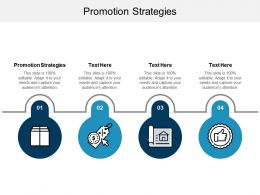 Promotion Strategies Ppt Powerpoint Presentation Gallery Background Image Cpb