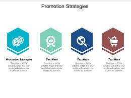 Promotion Strategies Ppt Powerpoint Presentation Gallery Design Inspiration Cpb