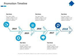 Promotion Timeline Year Process Ppt Powerpoint Presentation Layouts Deck