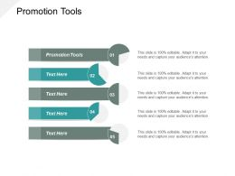 Promotion Tools Ppt Powerpoint Presentation Slides Demonstration Cpb