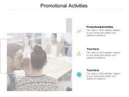 Promotional Activities Ppt Powerpoint Presentation Infographics Portrait Cpb