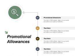 Promotional Allowances Ppt Powerpoint Presentation File Graphics Design Cpb