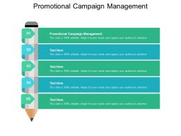 Promotional Campaign Management Ppt Powerpoint Presentation Outline Cpb