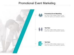 Promotional Event Marketing Ppt Powerpoint Presentation File Background Images Cpb