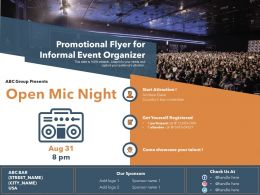 Promotional Flyer For Informal Event Organizer