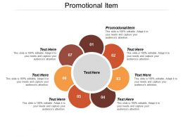 Promotional Item Ppt Powerpoint Presentation Icon Professional Cpb