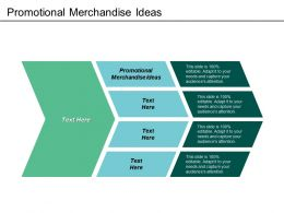 Promotional Merchandise Ideas Ppt Powerpoint Presentation Gallery Themes Cpb