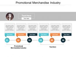 Promotional Merchandise Industry Ppt Powerpoint Presentation File Graphics Pictures Cpb