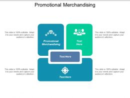 Promotional Merchandising Ppt Powerpoint Presentation Icon Portfolio Cpb