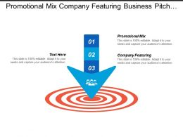Promotional Mix Company Featuring Business Pitch Presentation Agency Cpb