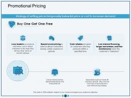 Promotional Pricing During Certain Ppt Powerpoint Presentation Portfolio Graphics