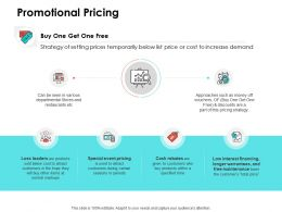Promotional Pricing Ppt Powerpoint Presentation Outline Background Image