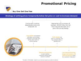 Promotional Pricing Ppt Powerpoint Presentation Show Clipart