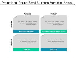 Promotional Pricing Small Business Marketing Article Market Databases Cpb