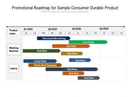 Promotional Roadmap For Sample Consumer Durable Product