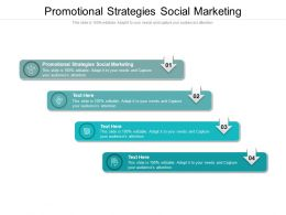 Promotional Strategies Social Marketing Ppt Powerpoint Presentation Icon Example Cpb