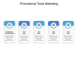 Promotional Tools Marketing Ppt Powerpoint Presentation Gallery Display Cpb