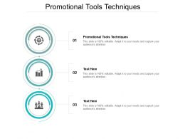 Promotional Tools Techniques Ppt Powerpoint Presentation Icon Background Cpb