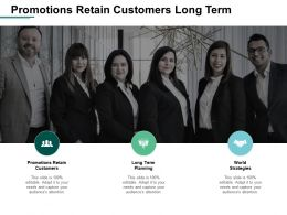 Promotions Retain Customers Long Term Planning World Strategies Cpb