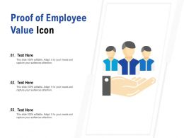 Proof Of Employee Value Icon