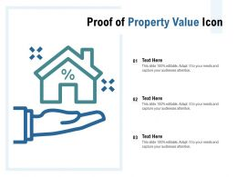 Proof Of Property Value Icon