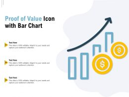 Proof Of Value Icon With Bar Chart