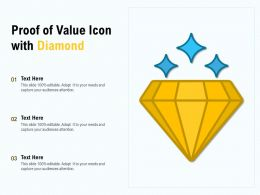 Proof Of Value Icon With Diamond