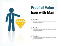 Proof Of Value Icon With Man