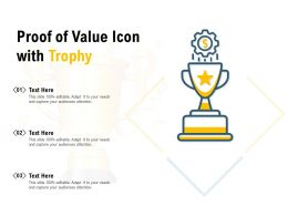 Proof Of Value Icon With Trophy