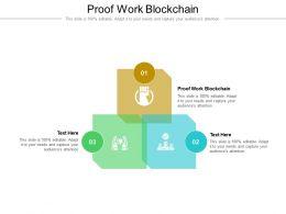 Proof Work Blockchain Ppt Powerpoint Presentation Model Design Ideas Cpb