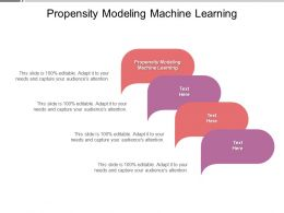 Propensity Modeling Machine Learning Ppt Powerpoint Layouts Deck Cpb