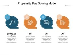 Propensity Pay Scoring Model Ppt Powerpoint Presentation Outline Slides Cpb