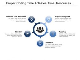 Proper Coding Time Activities Time Resources Web Access