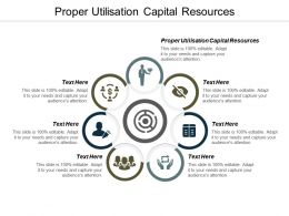 Proper Utilisation Capital Resources Ppt Powerpoint Presentation Show Influencers Cpb
