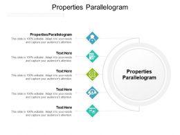 Properties Parallelogram Ppt Powerpoint Presentation Model Infographic Template