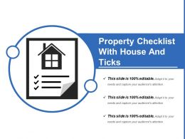 Property Checklist With House And Ticks