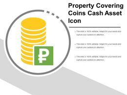Property Covering Coins Cash Asset Icon