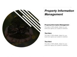 Property Information Management Ppt Powerpoint Presentation Gallery Deck Cpb
