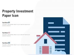 Property Investment Paper Icon