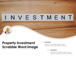 Property Investment Scrabble Word Image