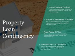 Property Loan Contingency Ppt Slide Design