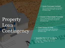 Property Loan Contingency Ppt Slide Design